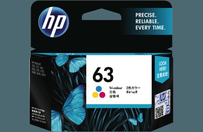 Hp Ink Amp Toner Hp 63 Tri Color Original Ink Cartridge F6u61aa
